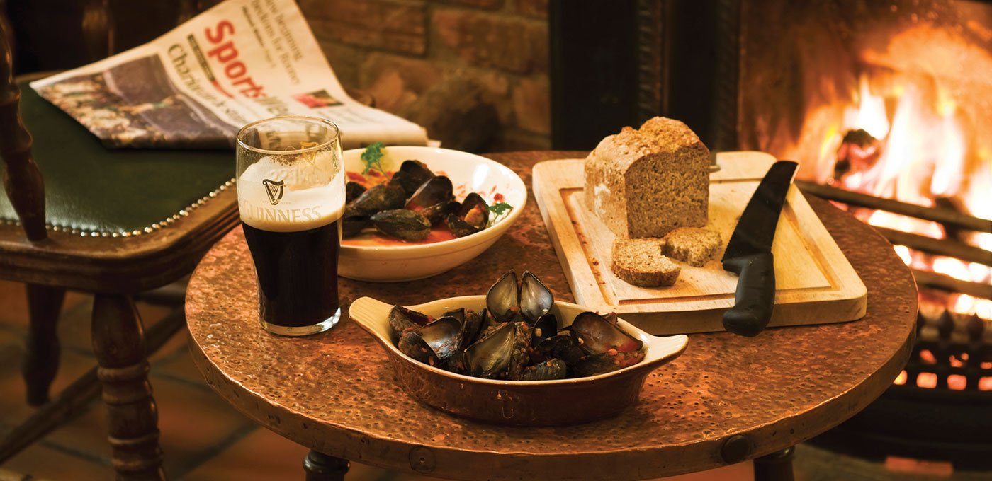 Mussels & Guinness at Paddy Coynes Pub